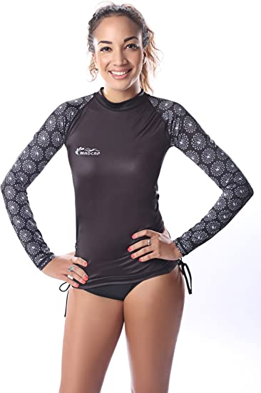 New Ladies Rash Guards Long Sleeve Swim Shirt Surf Swimwear UV Protection Top