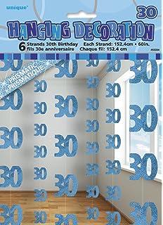 Unique BPWFA4150 Glitz 30th Birthday Foil Banner Party Decoration