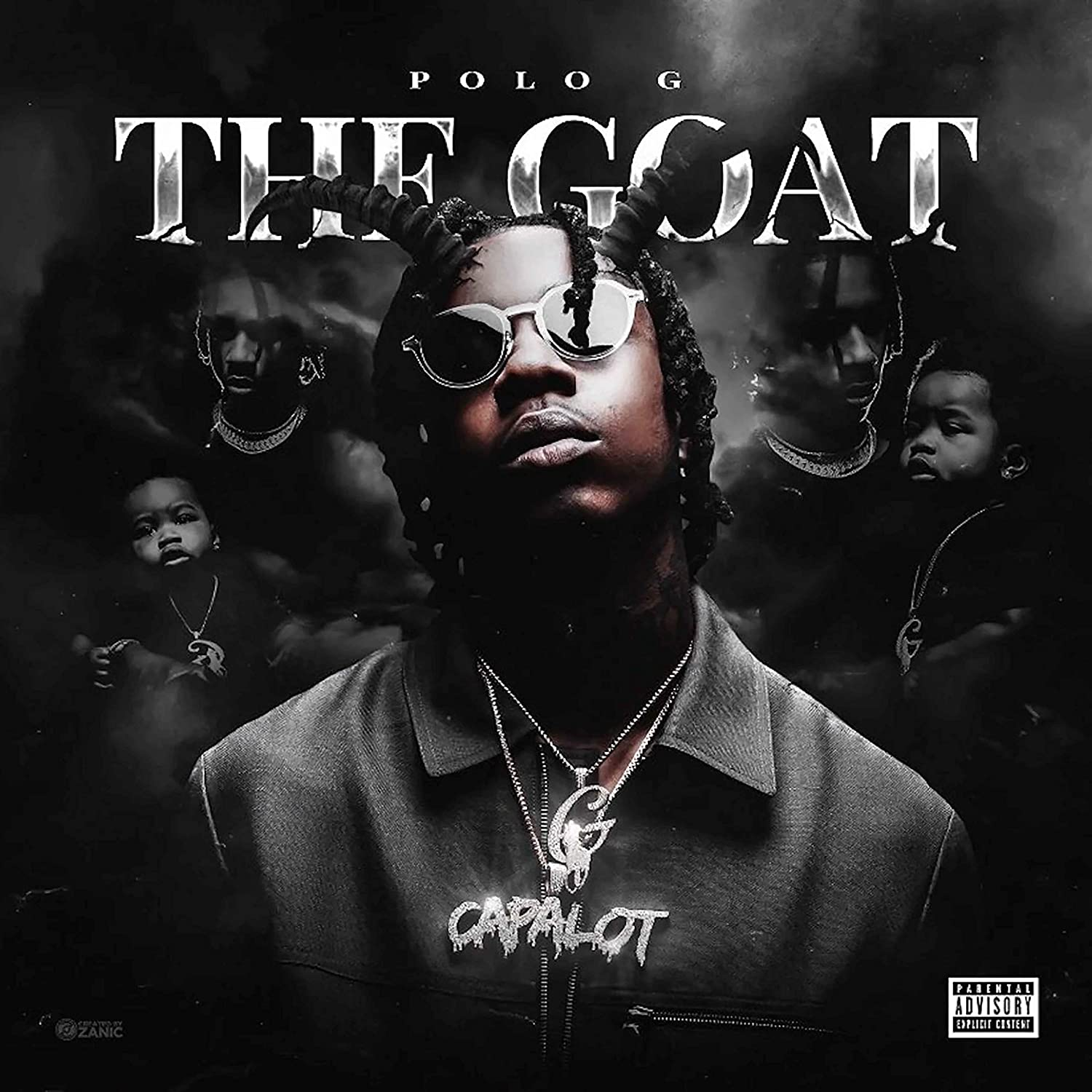 """Amazon.com: Official - Polo G (The Goat) - Album Cover Poster (12""""x12""""):  Posters & Prints"""