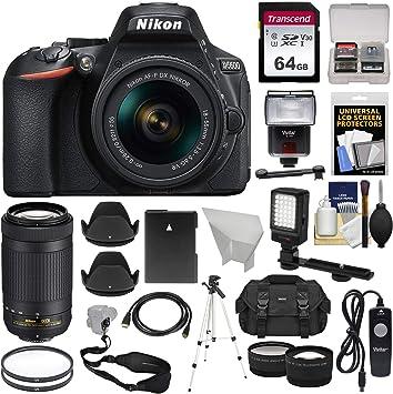 Amazon.com: Nikon d5600 WiFi Digital SLR Cámara con 18 – 55 ...