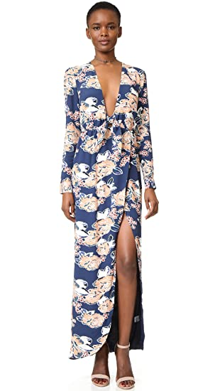Lovers Friends Womens My Love Maxi Dress Carmel Floral Medium