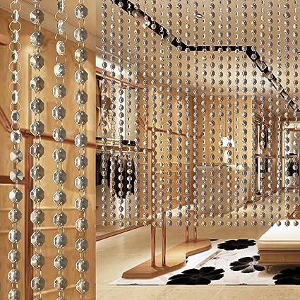 MOHOO 10m tenda della porta di cristallo per decorazioni fai da te ...