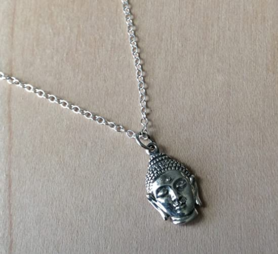 silver necklace buddhist il buddha gold listing