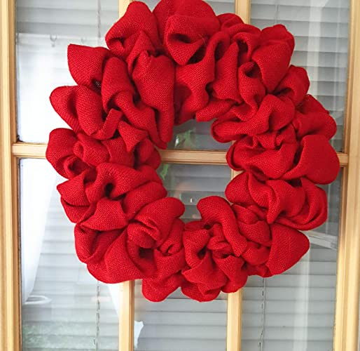 Amazon Com Red Burlap Wreath Diy Wreath Christmas Wreath