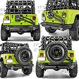 Restyling Factory 97 06 Jeep Wrangler TJ Rock Crawler Rear Bumper Tire Carrier W