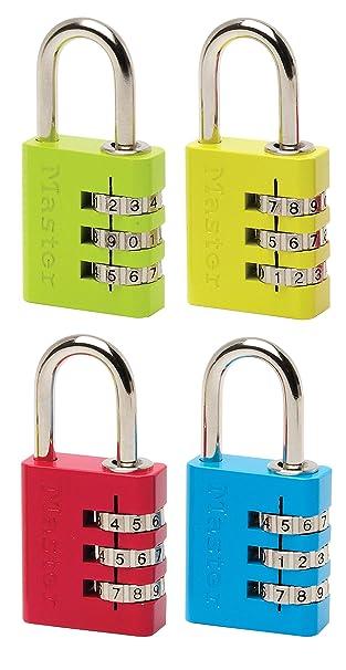 4684EURD Master Lock Zahlenschloss mit Adressenschild Farblich Sortiert