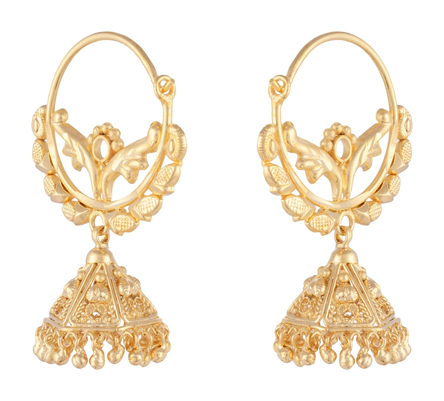 at earrings jhumki wear earring gold original daily inaya recommendations plated rs