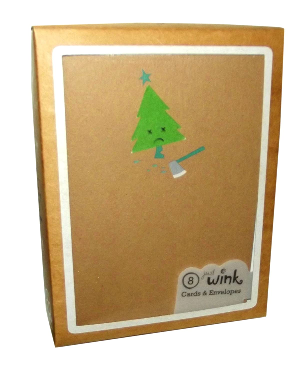 Amazon American Greetings Just Wink Tree And Axe Holiday Boxed