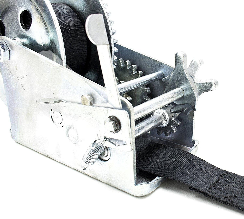 New Heavy Duty Mountable Hand Crank Strap Winch 2000lb for Jet Ski Atv Boat Trailer Light Utility Towing Strap Bastex 4347641717