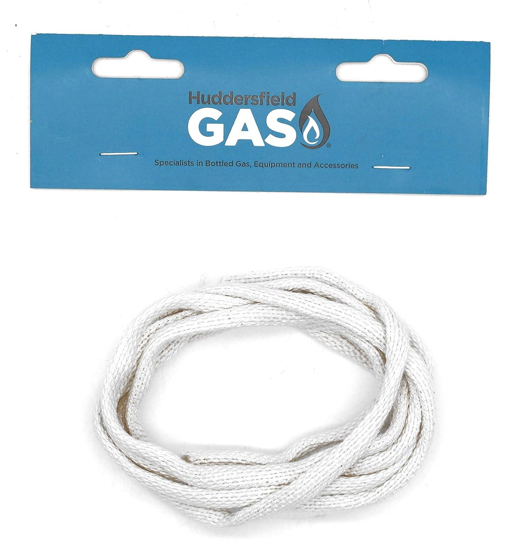 Huddersfield Gas 2 Meter Of Aladdin 5mm 3//16 Round Braided Oil Lamp Spirit Wick 100/% Cotton