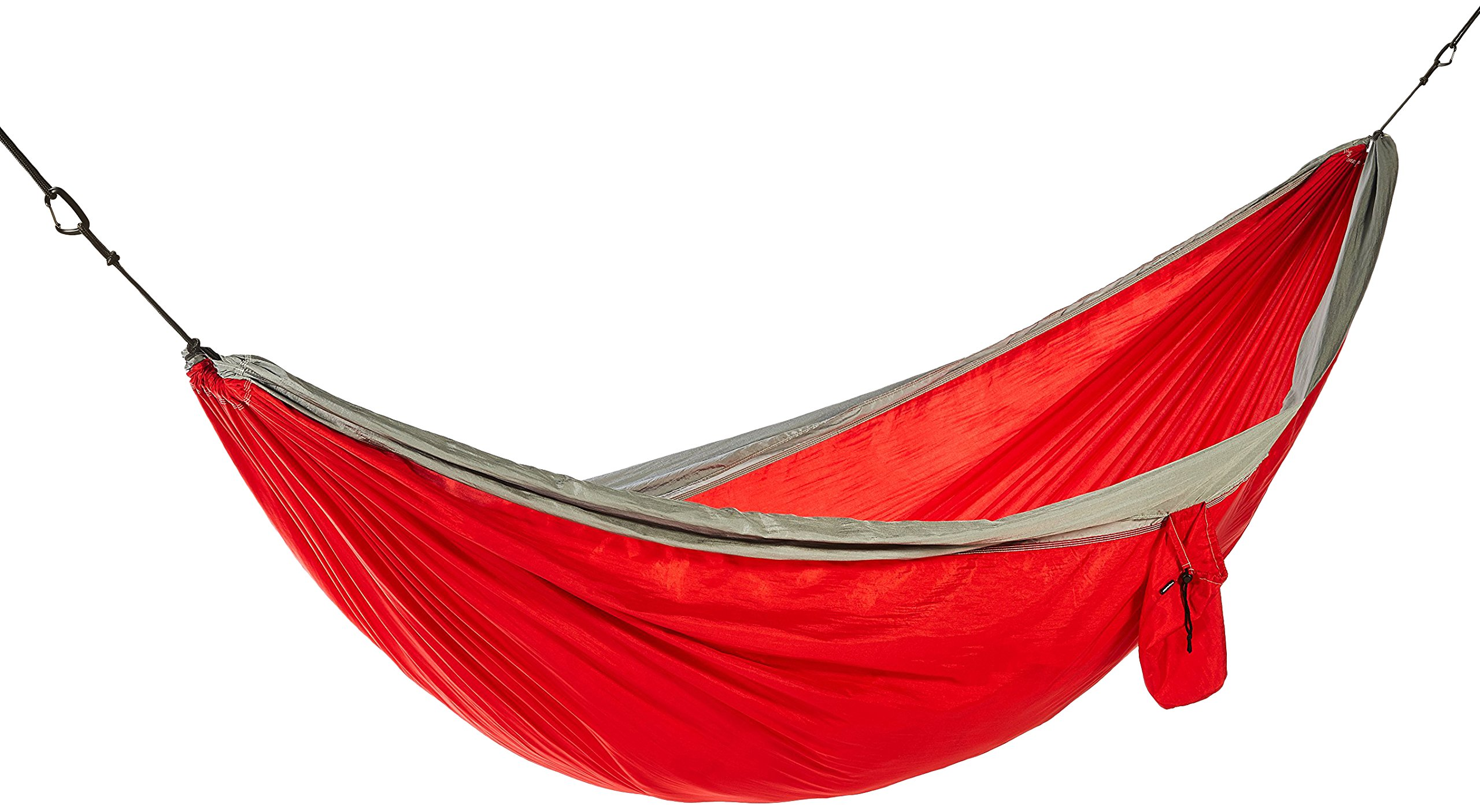Lightweight Double Camping Hammock, Red/Grey by AmazonBasics