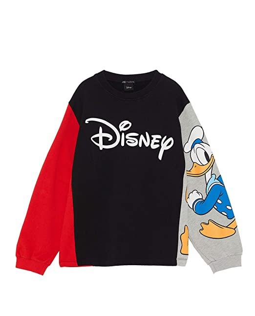 4564f984 Amazon.com: Zara Women ?Disney Donald Duck Sweatshirt 4873/166 ...