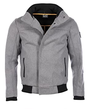 Emporio Armani EA7 - Chaqueta estilo urbano para hombre, color gris, gris, Large