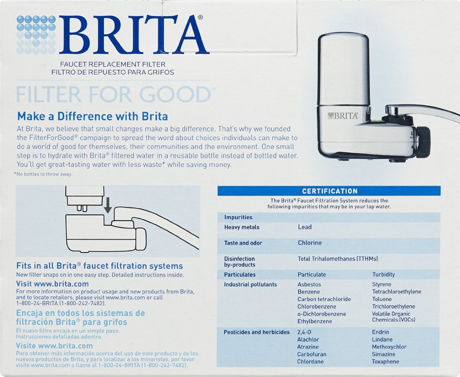 Amazon.com: Brita On Tap Replacement Filters, 4-Pack, White: Home ...