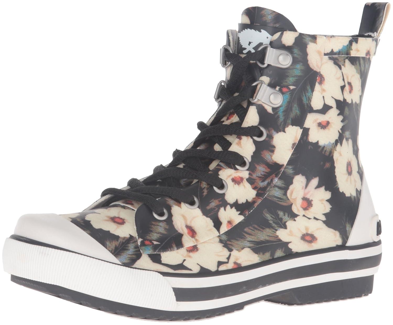Amazon.com | Rocket Dog Women's Rainy Midnight Floral Rubber Printed Rain  Boot | Mid-Calf