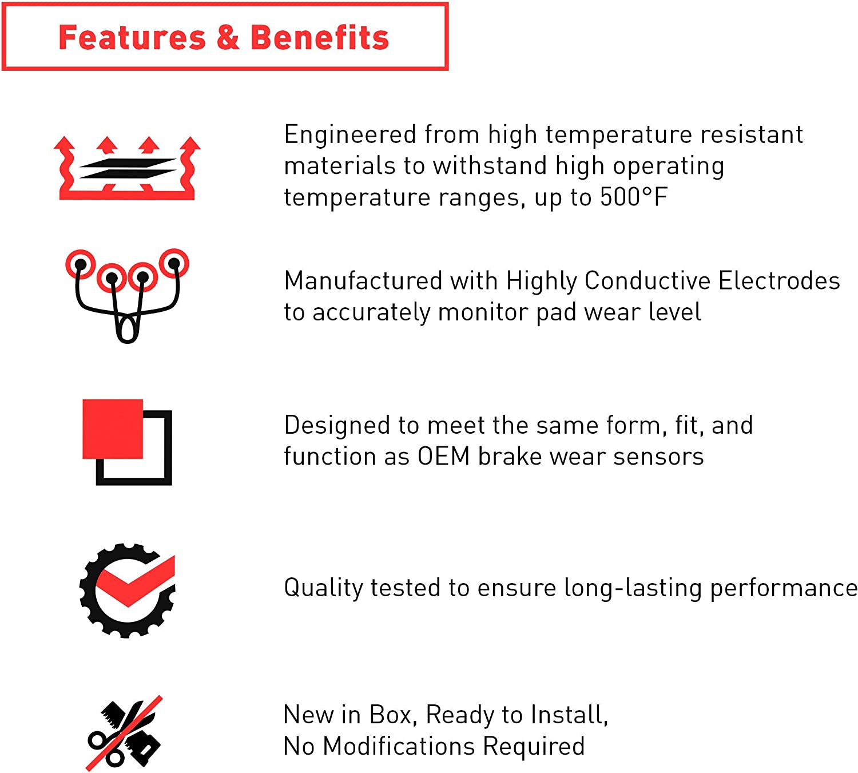 Rear Dynamic Friction Company Brake Pad Wear Sensor Wire 341-31061