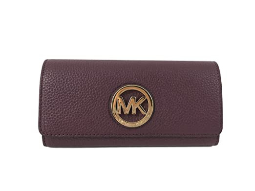 2a874e99082b Image Unavailable. Image not available for. Color  Michael Kors Fulton Flap  Continental Leather Clutch wallet ...