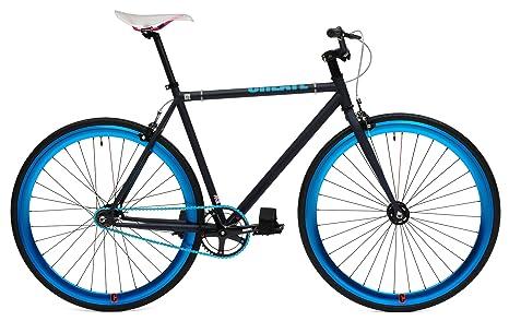 Bicicletta Uomo A Scatto Fisso Ruota Colorata 28 Nuda Blu Mbm