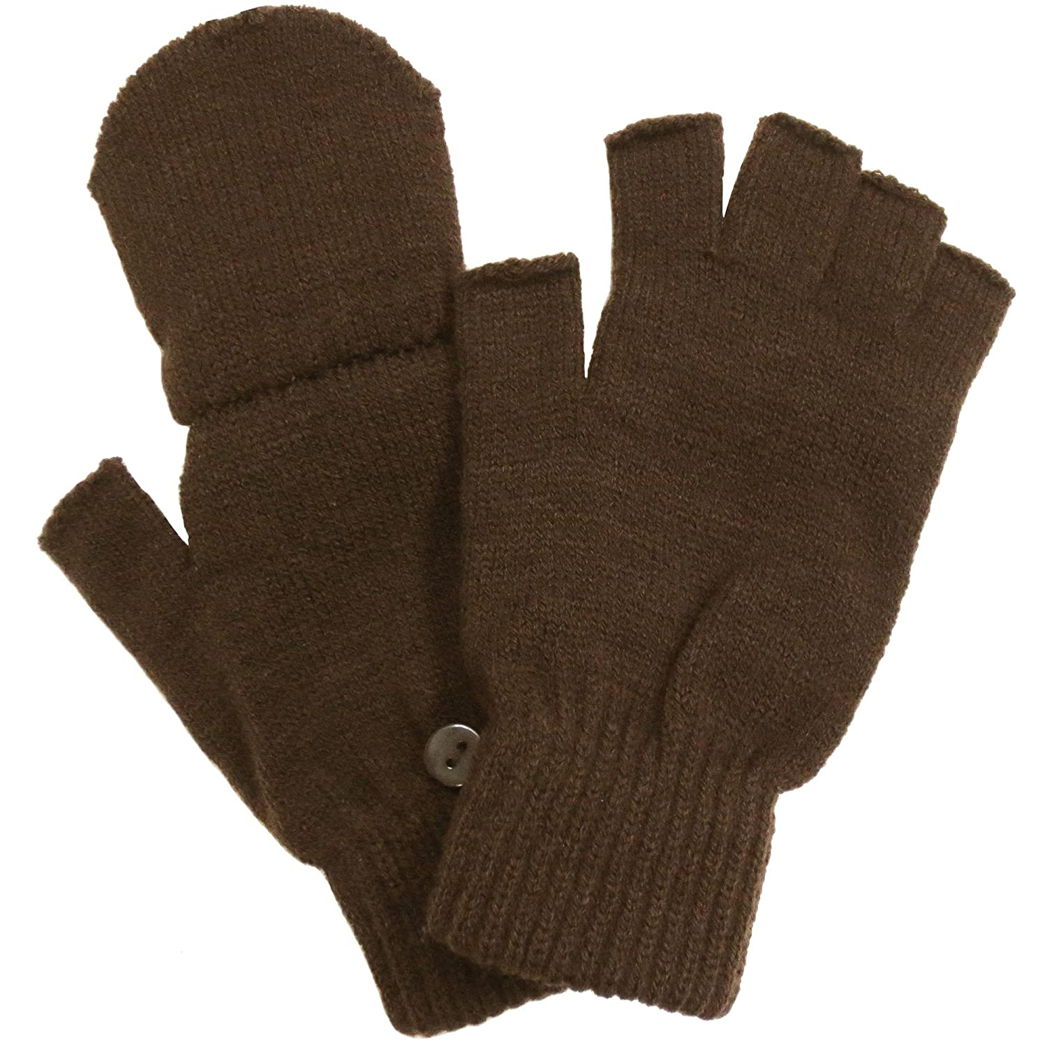 Mens gloves with mitten flap - Amazon Com Winter Fingerless Gloves With Flap Cover Mitten Gloves 56_brown Pet Supplies