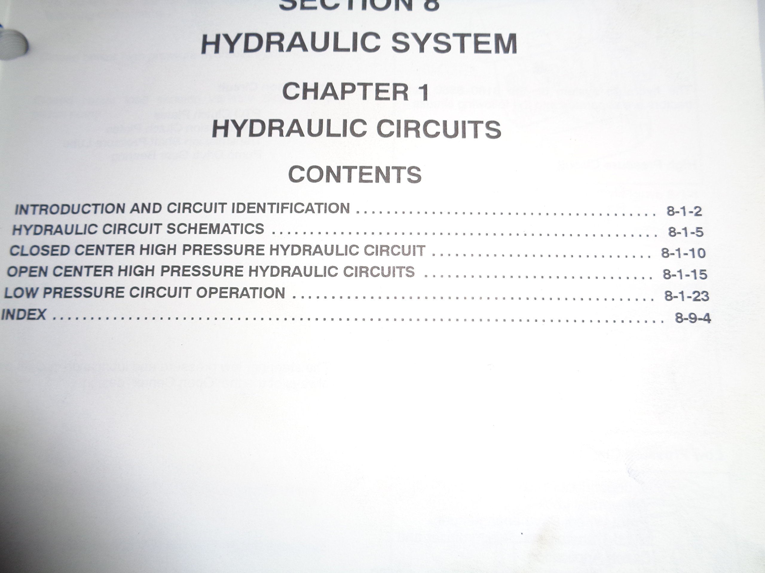 New Holland 8160 8260 8360 8560 Tractor Hydraulic System Service Circuit 1 Basic 2 Circuits Manual 10 96 Books