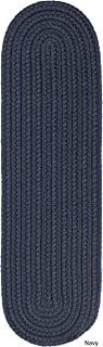 product image for Rhody Rug Madeira Braided Reversible Stair Treads by Navy