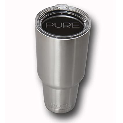 eeb9c74e37d HUGE 40 Oz. Stainless Steel Vacuum Insulated Tumbler By Pure, Double Wall  Insulated, Keeps Your Coffee Or Tea Crazy Hot And Holds Ice Longer Than Any  ...