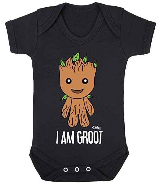 51f247784 Amazon.com: Guardians of The Galaxy I Am Groot Print Baby Bodysuits  Hypoallergenic Cotton: Clothing