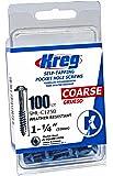 Kreg SML-C150B-100 Blue-Kote WR Pocket Screws - 1-1/2-Inch, 100 pack