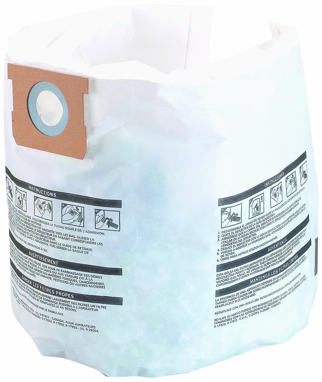 Shop-Vac 9066100,3 pieces, 5-8-Gallon Collection Filter Bags