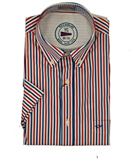 Paul & Shark Camisa Slim Fit Blu A Righe 37: Amazon.es: Ropa y accesorios