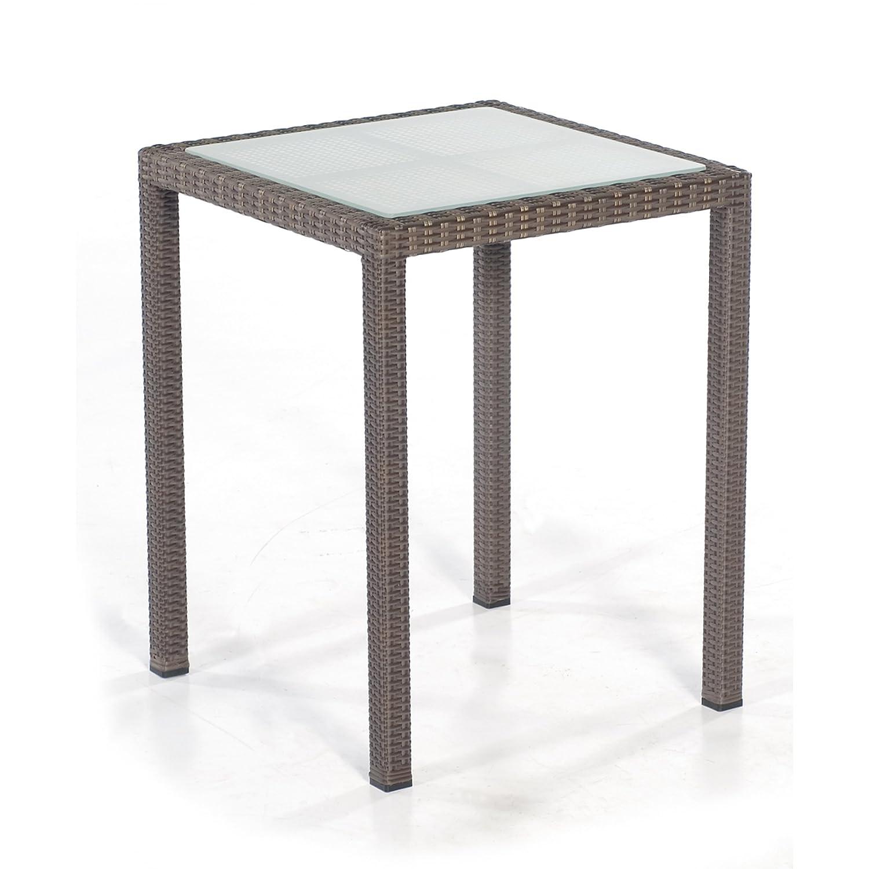 Sonnenpartner Tisch Glastisch Vera Cruz 60 x 60 x 75 cm cappuccino 80061255