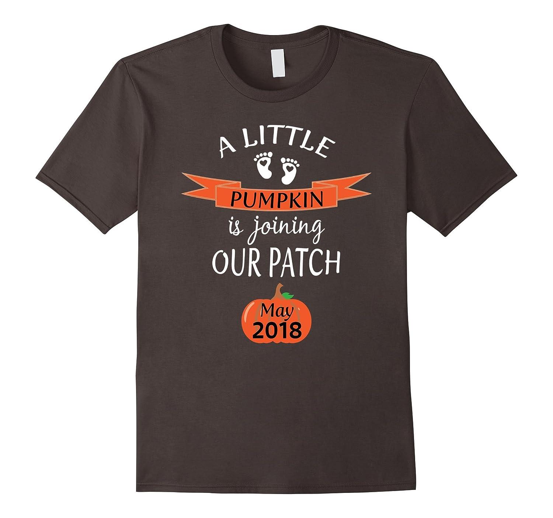 2018 Cute Halloween Pregnancy Announcement Shirt May Baby-FL