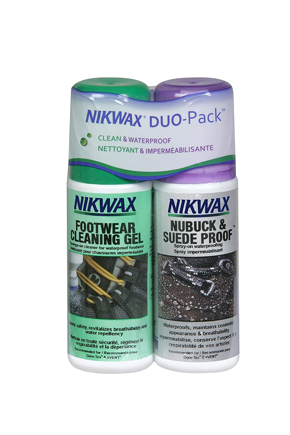 Nikwax Footwear Cleaner and Fabric/Leather Proof Spray-on Duo-Pack, 125 ml Nixwax 178