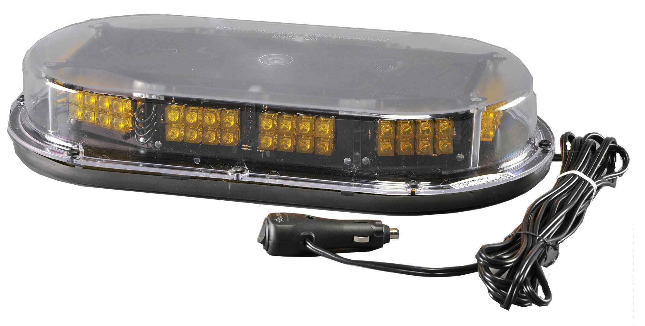 North American Signal MMBSLEDFLM-C/A LED Mini Light Bar with Magnetic Mount, 12/24V, 1.4A Current, Amber