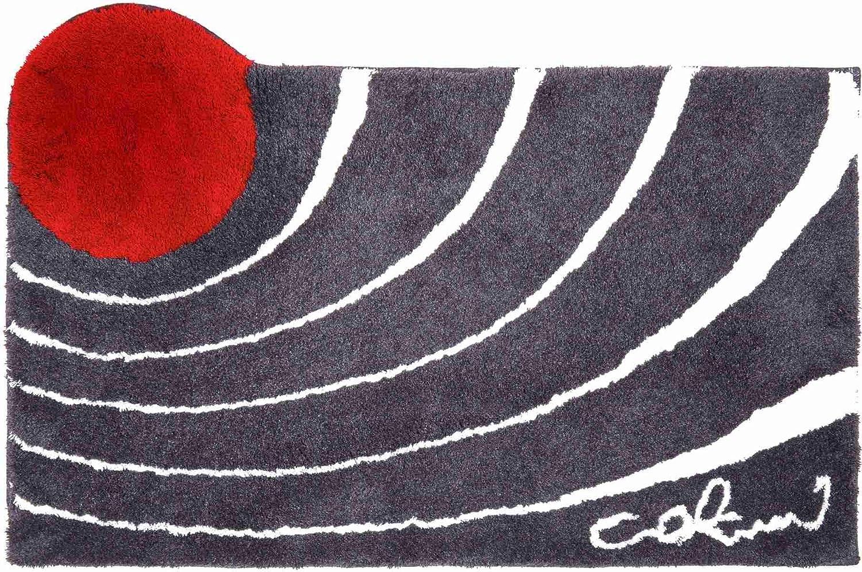 5 A/ños de Garant/ía Colani 23 Ultra Suave y Absorbente Alfombra de Ba/ño 60x100 cm Antideslizante Grund Alfombra de Ba/ño de Dise/ño COLANI Rojo