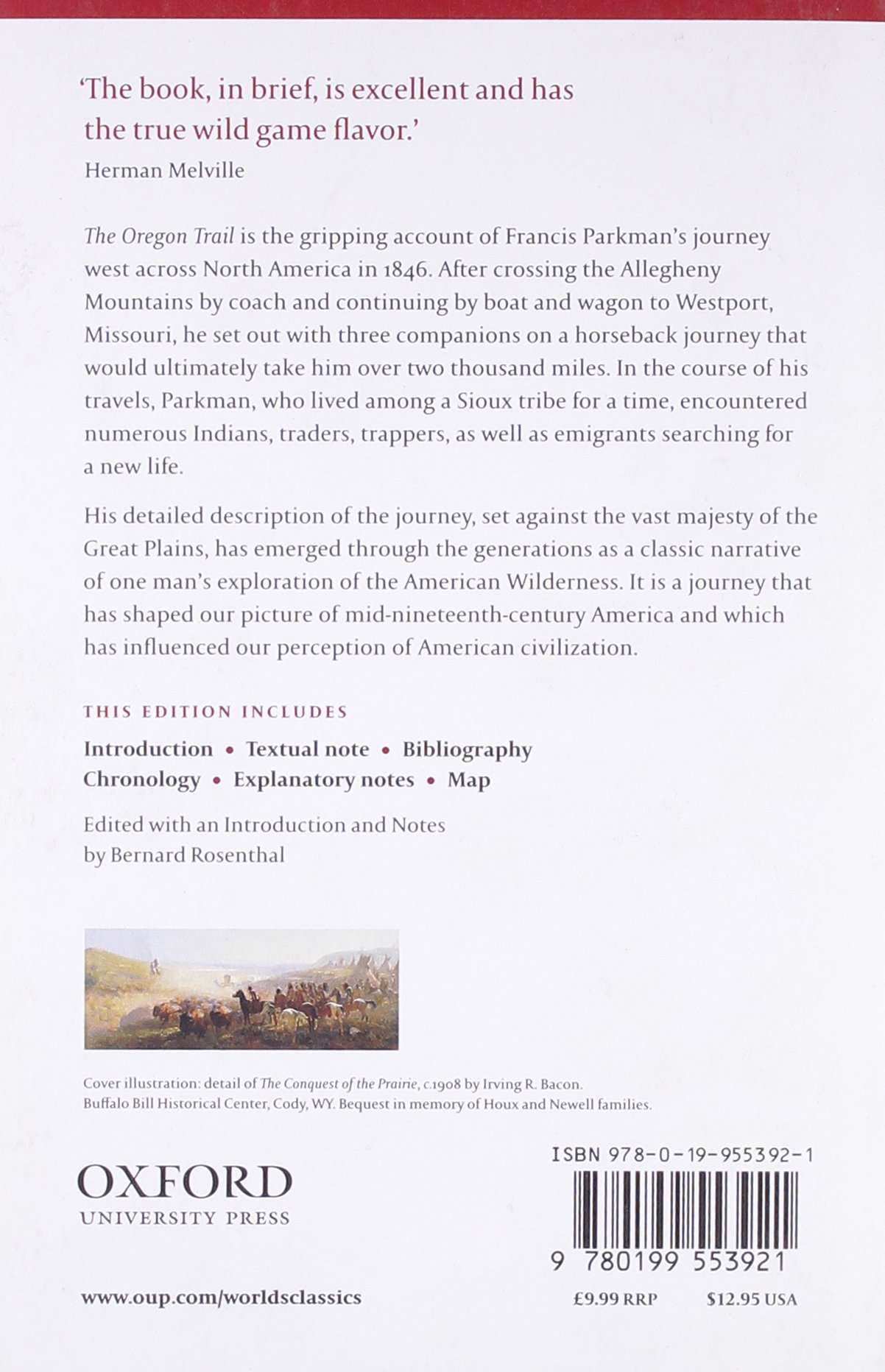 The Oregon Trail (oxford World's Classics): Francis Parkman, Bernard  Rosenthal: 9781435752009: Amazon: Books