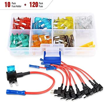 Amazon.com: Nilight 10Pack 12V Add-A-Circuit Fuse Tap Adapter Mini Atm Apm Blade  Fuse Holder with 120PCS Mini Blade Fuse Assortment (5, 7.5, 10, 15, 20, 25,  30) AMP for CarsTrucks Boats: Automotive | Adapter For Automotive Fuse Box |  | Amazon