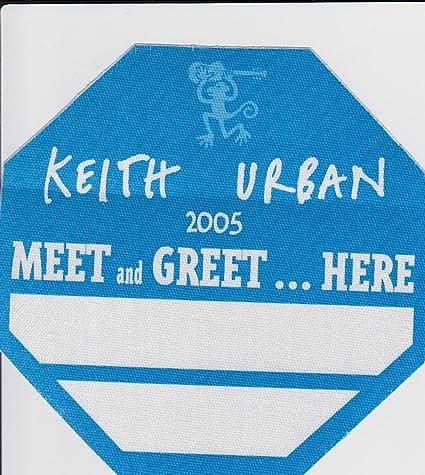 2005 Keith Urban Green Meet /& Green Pass