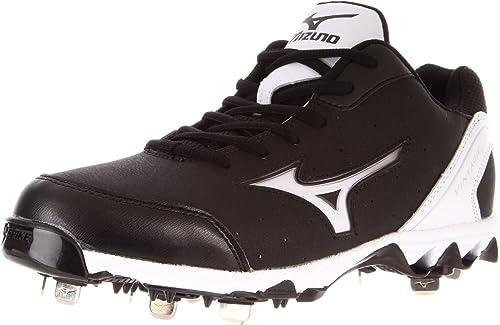 Mizuno 9 Spike Vintage 7 Switch Mens Baseball Metal Cleats Black White