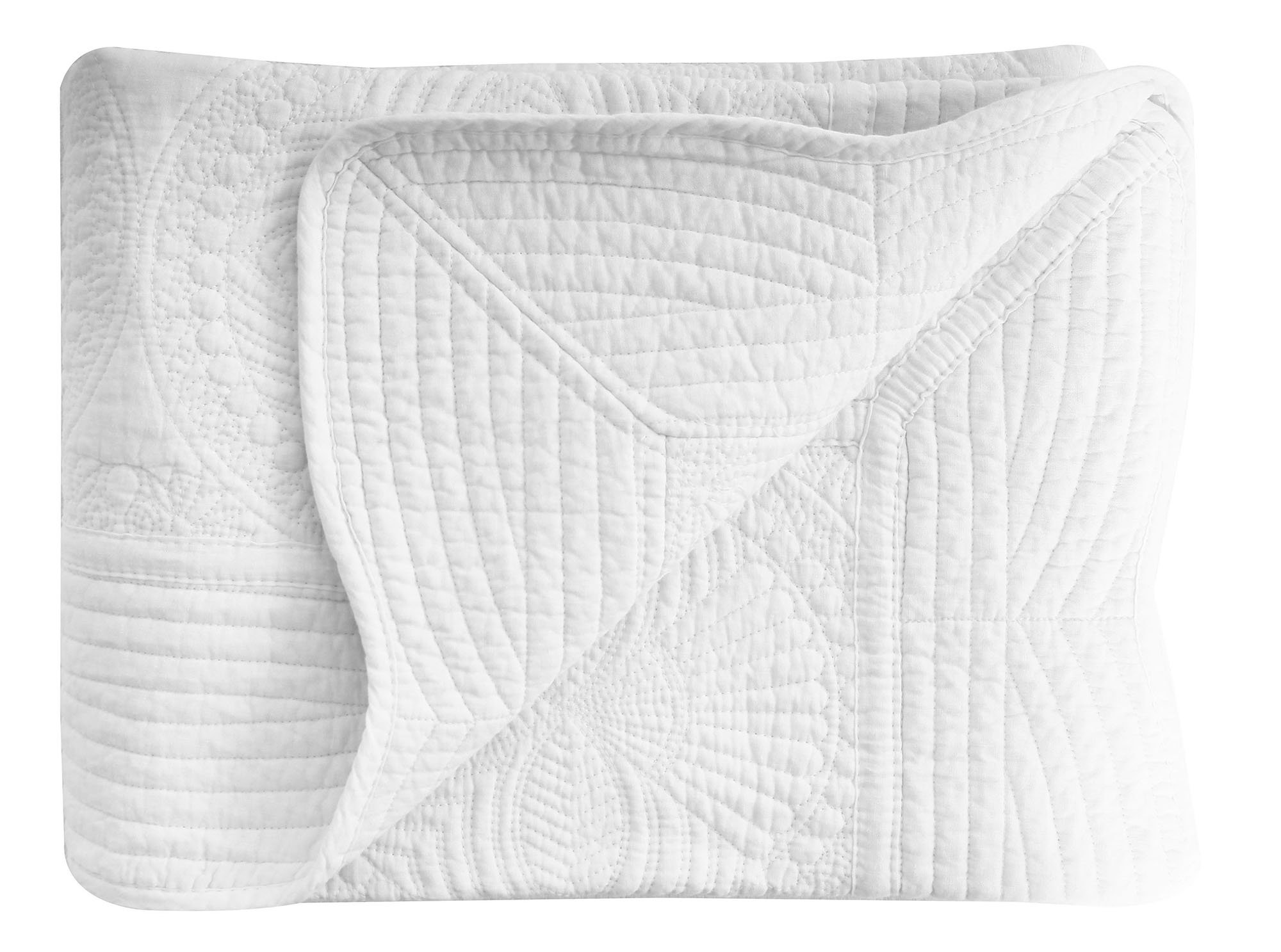 AshopZ Lightweight All Weather Embossed Quilt for Babies and Infant, White, 36 inches x48 inches by AshopZ