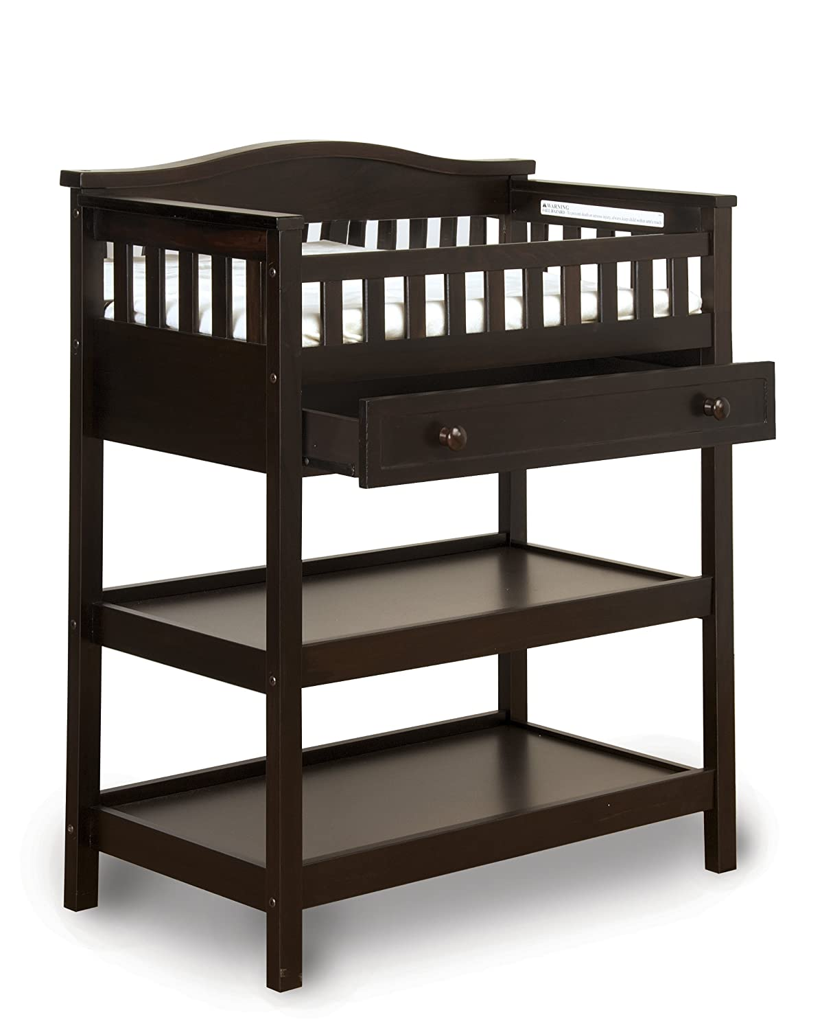 Amazon.com : Child Craft Watterson Dressing Table With Mirror And Drawer,  Jamocha : Changing Tables : Baby