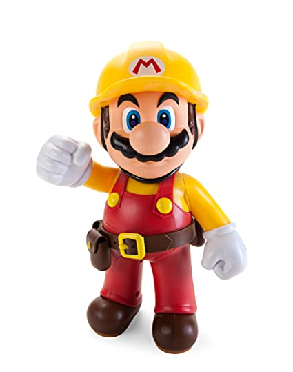 Super Mario Maker Big Builder Mario Action Figure