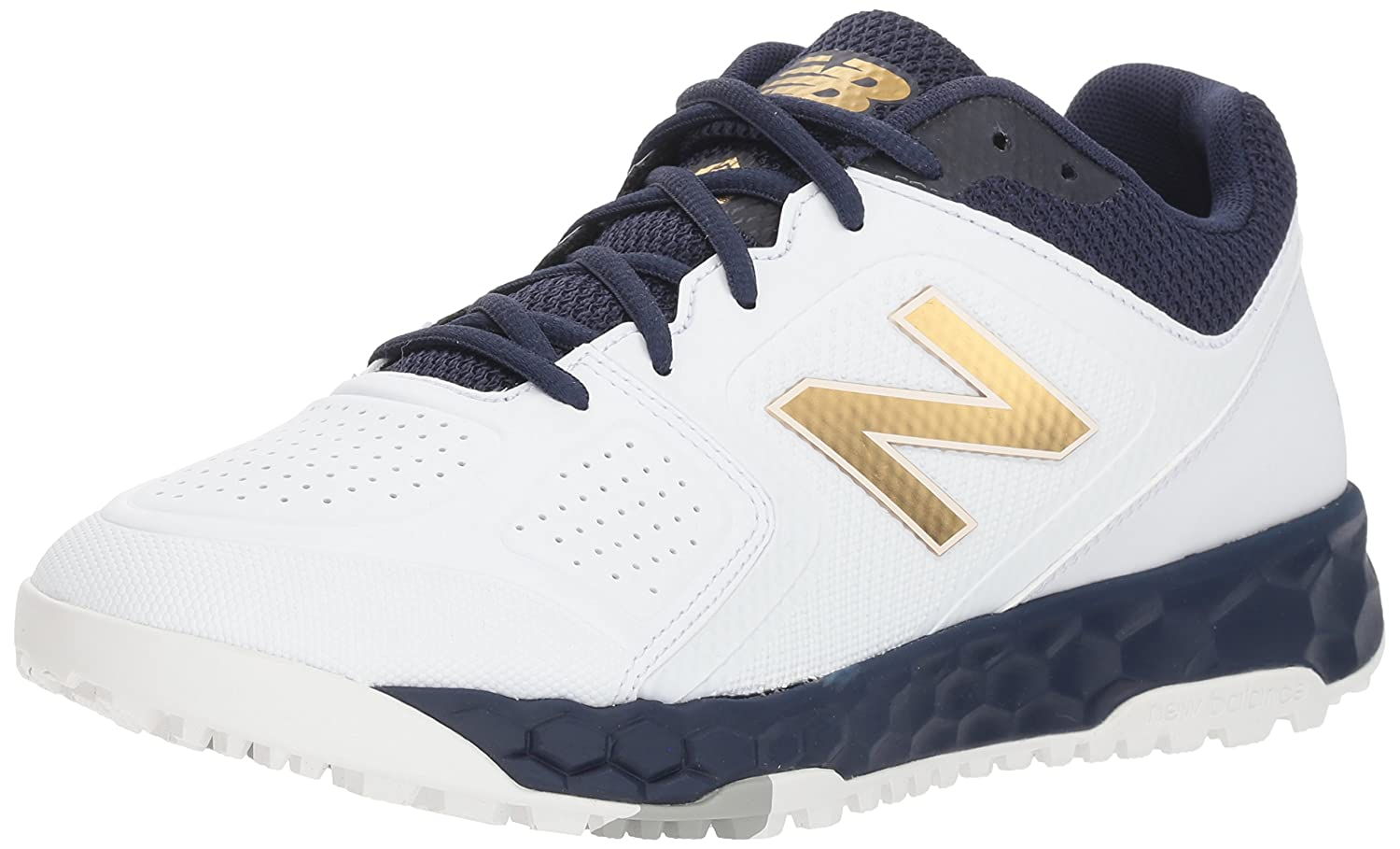 New Balance Women's Velo V1 Turf Softball Shoe B075R6WD8Y 5 B(M) US|Navy/White