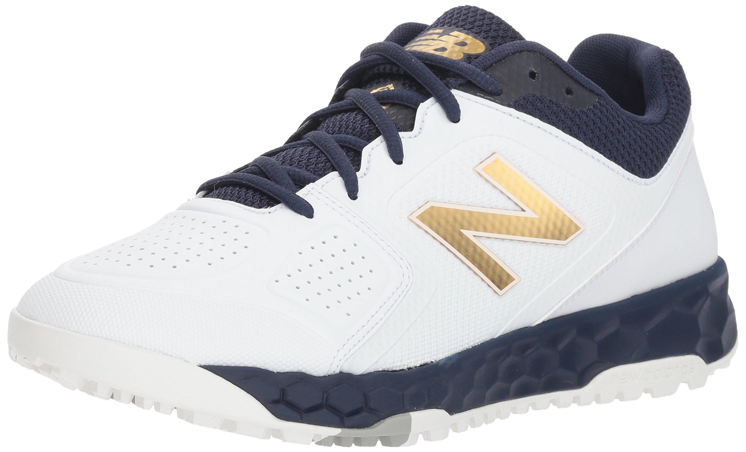 New Balance Women's Velo V1 Turf Softball Shoe, Navy/White, 6.5 B US by New Balance