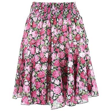 Gabrielle Parker Falda Gitana con Estampado Floral, Cintura ...