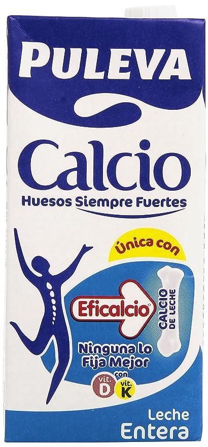 Puleva Leche Entera con Calcio - Paquete de 6 x 1000 ml - Total 6000 ml