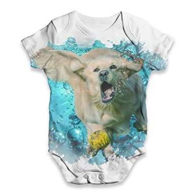 Twisted Envy Underwater Labrador Baby Unisex Funny All Over Print