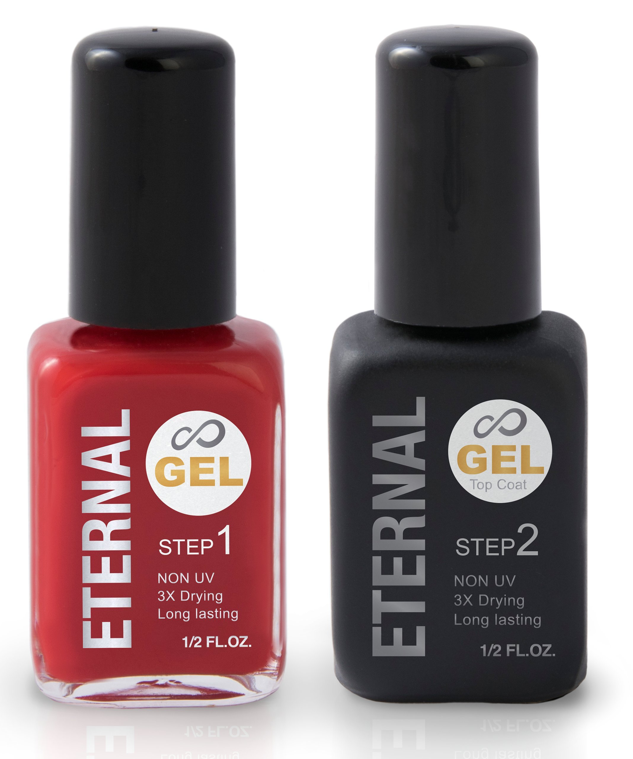 Amazon.com: Eternal Color Gel Nail Enamel Nude + Gel Top Coat ...