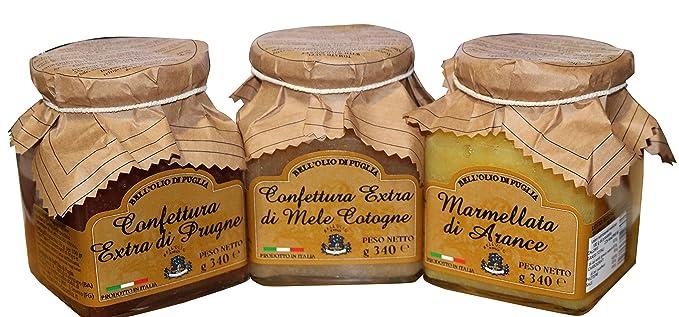 Confection 3 mermeladas caseras | El paquete contiene mermelada de membrillo, ciruelas y mermelada de
