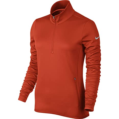 f423b588d95 Nike Golf Women's Thermal 1/2 Zip Pullover (Team Orange/Wolf Grey) (Large)